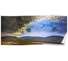 Approaching Thunderstorm over the Hudson Poster