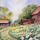 Wild flowers at Castle Rising by Ann Mortimer