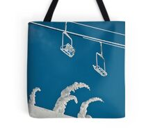 Snow sculptures and frozen chairs Tote Bag