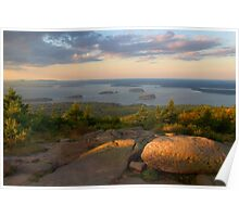 Evening Light On Cadillac Mountain Poster