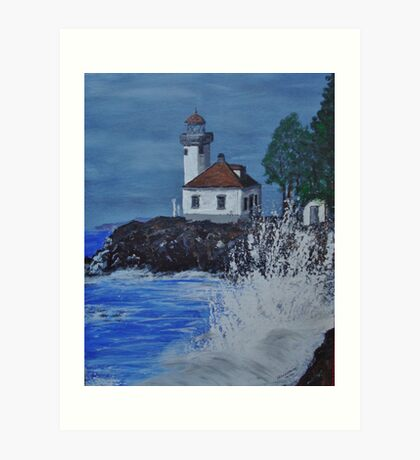 """Lime Kiln Light"" Art Print"