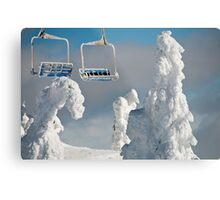 Frozen Chairs Metal Print