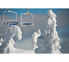 Frozen Chairs Photographic Print