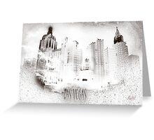 Las Vegas Silhouette Greeting Card