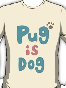 Stylish Anime Dad Pug Is Dog Shirt T-Shirt