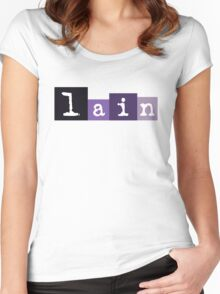 """Lain """"90s"""" Style Logo Women's Fitted Scoop T-Shirt"""