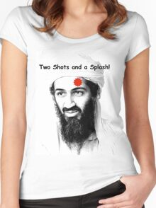 Bin Laden is DEAD!  :) Women's Fitted Scoop T-Shirt