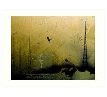Theory of Flight - Blue Herons Art Print