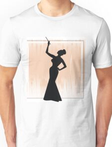 sexy girl silhouette with a cigar Unisex T-Shirt