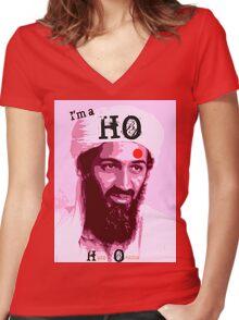 I'm a HO for Bin Laden! Women's Fitted V-Neck T-Shirt