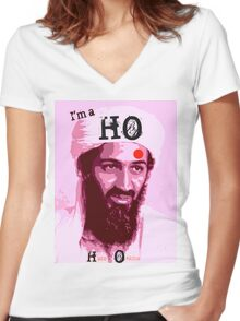 I'm a HO for Bin Laden! Women's Fitted V-Neck T-Shirt
