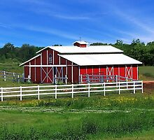A Red Barn by RickDavis
