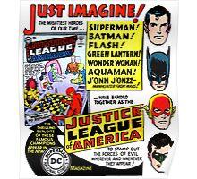 Retro Comics First Justice League Comic Book #1 Advertisement Poster