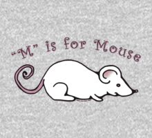 M is for Mouse One Piece - Short Sleeve