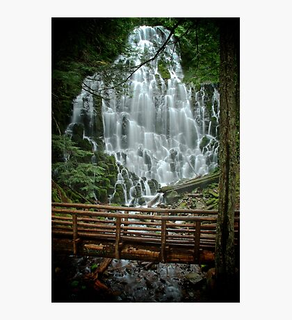 Ramona Falls in Oregon Photographic Print