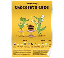 Very Choccy Chocolate Cake illustrated recipe Poster