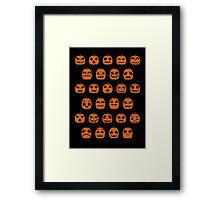 Pumpkin Pixel Patch Framed Print