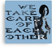 HALO Cortana We Take Care of Each Other Canvas Print