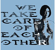 HALO Cortana We Take Care of Each Other Photographic Print