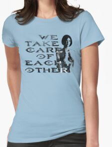 HALO Cortana We Take Care of Each Other Womens Fitted T-Shirt
