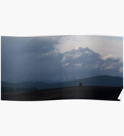 Martis Valley Cloud Clearing Poster