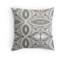Abstract painting template. Handmade texture. Symmetrical pattern. Lace Throw Pillow