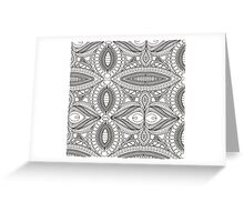 Abstract painting template. Handmade texture. Symmetrical pattern. Lace Greeting Card