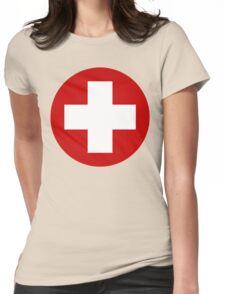 Swiss Air Force Insignia Womens Fitted T-Shirt