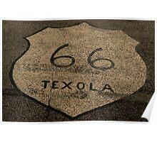 Route 66 Texola Road Symbol Historic Route 66 Poster