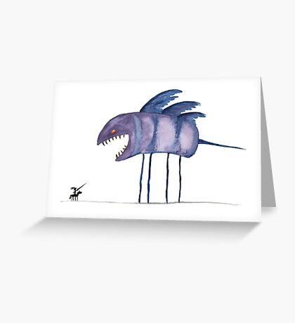 I will not feed you Greeting Card