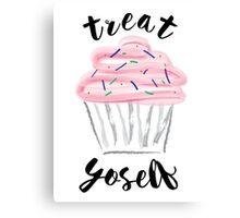 Treat Yoself Cupcake Canvas Print