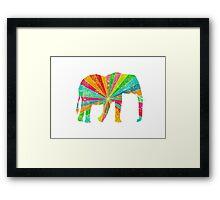 Retro Elephant Framed Print
