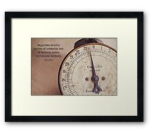 Little Reminders-Scale Framed Print