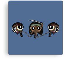 Powerpuff Michonne Canvas Print