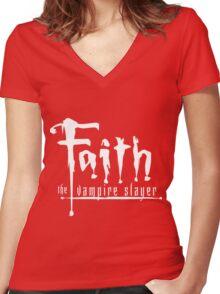 Faith the Vampire Slayer Women's Fitted V-Neck T-Shirt