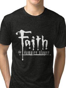 Faith the Vampire Slayer Tri-blend T-Shirt