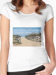 Beach Solitude Women's Fitted Scoop T-Shirt