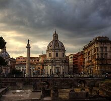 Clouds over Rome by Béla Török