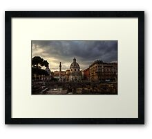 Clouds over Rome Framed Print