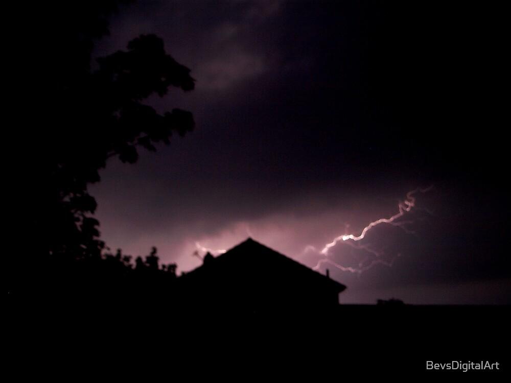 Lightning Strikes... by BevsDigitalArt