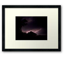 Lightning Strikes... Framed Print