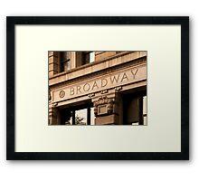 Broadway Sign Framed Print