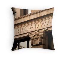 Broadway Sign Throw Pillow