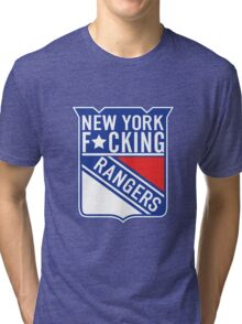 New York F*cking Rangers Logo T-Shirt Tri-blend T-Shirt