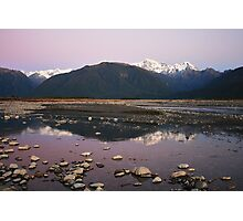 Cook River Sunset II, Fox Glacier, NZ Photographic Print