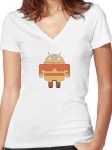 Aangdroid Women's Fitted V-Neck T-Shirt