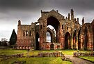 Winter's Day at Melrose Abbey by Christine Smith