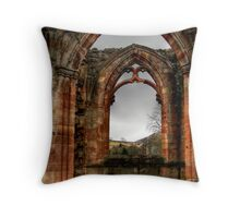 Looking Through the Window, Melrose Abbey Throw Pillow