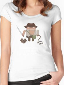 Indiana Jones and the Temple of Droid Women's Fitted Scoop T-Shirt