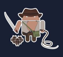 Indiana Jones and the Temple of Droid (No Text) Kids Tee